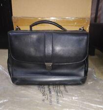 Johnston & Murphy Laptop Bag Briefcase Black DIVIDENDS SLIMLINE FLAP EDITION