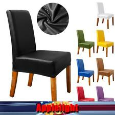 US 1-10Pcs Waterproof PU Stretch Large Banquet Leather High Elastic Chair Cover