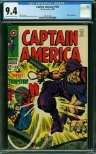 CAPTAIN AMERICA 108 CGC 9.4 OFF WHITE WHITE PAGES  HIGH GLOSS KING JACK KIRBY A9