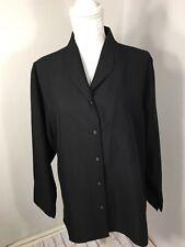Munsingwear Shirt Ladies Black Size XL Long sleeves Button Down, Collar