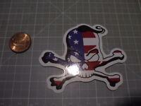 SKULL CROSSBONES FLAG GLOSSY Sticker /Decal NEW