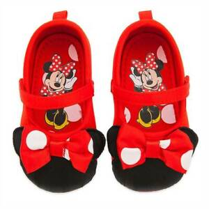 NWT Disney Store Red Minnie Mouse Baby Costume Shoes 0 6 12 18 24M