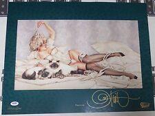 Olivia de Berardinis Signed Tapioca 16x20 Fine Art Print PSA/DNA Playboy Litho