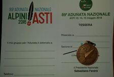 Medal Medaglia tessera adunata Asti 2016 ANA Associazione Nazionale Alpini