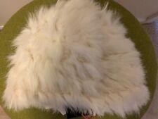 Real Rabbit Fur Off White Hat - Cynthia Rowley