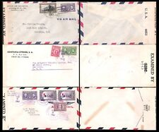 PANAMA to USA 1940's CENSORED COVERS (x3) (JF)