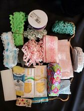 Lot Of Beautiful Unique Vintage Embroidered Lace Trim Ribbon