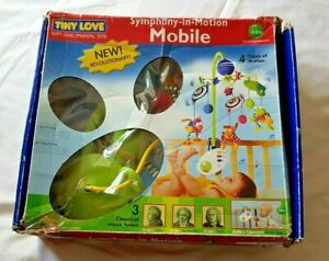 Tiny Love Symphony In Motion Mobile Musical Baby PLEASE READ plays -needs fixing