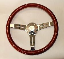 "65 66 67 68 69 Mustang Steering Wheel 14"" Wood with Running Pony Center Cap"