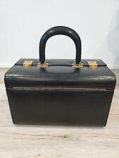 Ancien Vanity valise de toilette voyage en bois et cuir ref 883