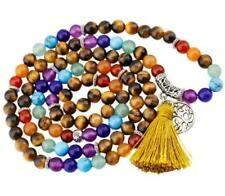6mm Tiger's Eye Stone 7 Chakra 108 Mala Beads Prayer Stones Bracelet Necklace