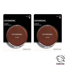 (2) Covergirl Clean Pressed Powder, 125 Buff Beige