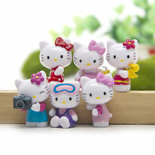 6pcs Hello Kitty Anime Figure Set Figurine Toy Collectible Cake Topper Kids Gift