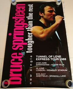"""Bruce Springsteen Tougher Than the Rest Vintage 60"""" x 40"""" 1988 Billboard Poster"""