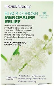 Higher Nature Black Cohosh Menopause Relief - 30 Tablets - EXP 07/2024
