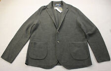 Ralph Lauren Mens Gray Merino Wool Textured Cardigan Sweater Blazer M