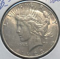 """1923-D  """"VAM""""  **** PEACE DOLLAR ****  L@@K AT PICTURES!!!!!   #1820"""