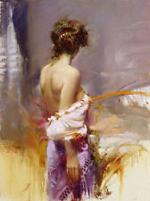 Handcraft Portrait Oil Painting on Canvas,body art Nude beauty 24x36inch