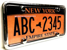 Automobile Clear License Plate Cover & Chrome Metal Frame Combo Set w/ Bolt Caps