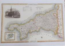 Map of the County of CORNWALL : 1840 Pigot and Co -  Reproduction