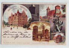 Litho  Grand Hotel Nürnberg    1913 coloriert Rudolf Lotz
