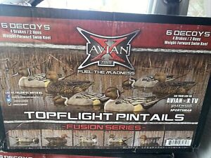 ZINK AVIAN-X TOPFLIGHT FUSION SERIES PINTAIL DUCK DECOYS  6-PACK NEW
