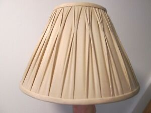 """Laura Ashley Pleated Pale Gold / Champagne Colour Lampshade 12"""" base across"""