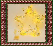 "40LEDs Pre-Lighted 15"" Star Shape Christmas Wreath,Garland, Door/Wall Decoration"