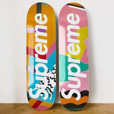 Supreme X Alessandro Mendini Set of 2 Skateboards Deck Skate Box Logo Bogo