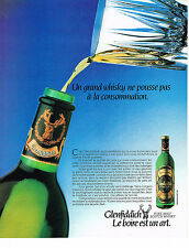 PUBLICITE ADVERTISING   1982   GLENFIDDICH  whisky 2