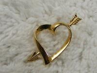 AVON Goldtone Heart Arrow Tac Pin (C71)