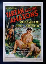 TARZAN AND THE AMAZONS * CineMasterpieces 1SH ORIGINAL MOVIE POSTER 1945