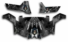 Polaris RZR 570 UTV Graphics Kit Decal Wrap 2012 - 2014 Grim Reaper Reveng Black