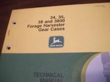 JOHN DEERE TECHNICAL MANUAL 34 35 38 AND 3800 FORAGE HARVESTER GEAR CASES