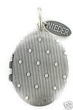 Medaillon Messing Altsilber oval 23  x 30 mm Streifen