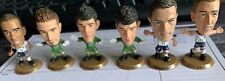 6 X SOCCERSTARZ RARE GOLD BASE CHASER FIGURES England's Players
