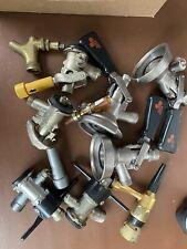 New listing Draft Beer Faucet & Coupler lot Micro Matic Keg Tap Home Bar Kegerator Spouts 15