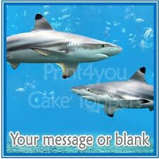 ND3 Shark personalised Square cake topper icing sheet