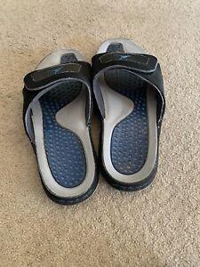 Air Jordan Hydro Slides, Black and Blue, Size 10