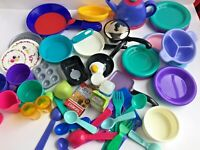 Play Pretend Kitchen Cooking Food Toy Lot Preschool 63 Items