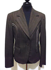TRUSSARDI JEANS Giacca Donna Viscosa Jersey Woman Jacket Blazer Sz.S - 42