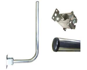 3′ foot L SHAPED POLE & BRACKET loft caravan mounting kit MAST TV aerial J pole
