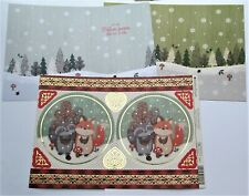 Kanban Woodland Christmas Animals Die Cut Foiled Toppers,Card, Insert Kit 54423