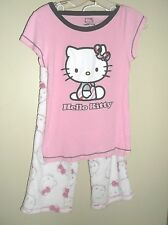 Hello Kitty sleep top and lounge pants white pink gray girls small
