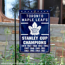Toronto Maple Leafs 13 Time Stanley Cup Champions Garden Flag and Yard Banner