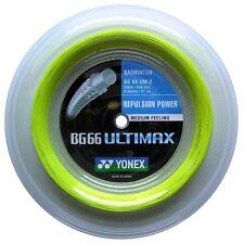 Original Yonex BG66 Ultimax (Yellow) 656ft 200m Reel Badminton String