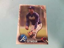 2016 Bowman Draft #BD168 Anfernee Seymour Atlanta Braves Florida Fire Frogs