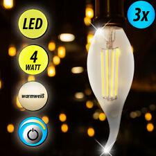 3x LED 4 Watt Glühfaden Kerzen Beleuchtung 320 Lumen warm weiß Leuchten E14 WOFI