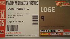 VIP TICKET Loge Friendly 2015/16 Union Berlin - Crystal Palace FC