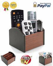 Revolving Caddy Remote Control Organizer Wooden Storage Holder Box TV Stand